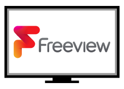 Freeview Logo on TV