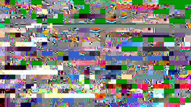 Pixelated TV picture
